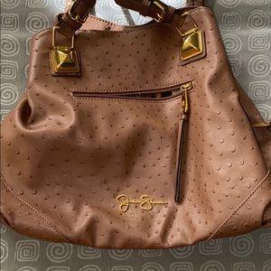 Brown Jessica Simpson purse w cheetah print inside